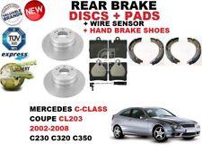 für Mercedes C-Klasse CL203 Coupe Bremsscheiben SET HINTEN+Bremsbelag Satz +