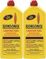 2 Bottles Ronsonol Lighter Fuel 8 Ounces Bottle  Best For All Wick-Type Lighters