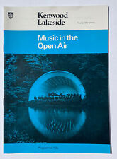 *MUSIC IN THE OPEN AIR NEW PHILHARMONIC ORCHESTRA KENWOOD HOUSE PROGRAMME 1975*