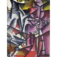 Popova an Homage Painting Large Canvas Wall Art Print