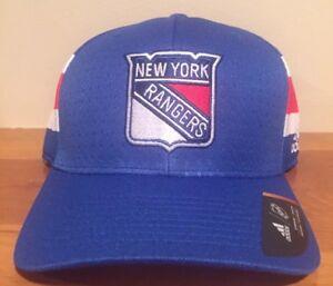Adidas New York Rangers  Blue 2017 Draft Flex Hat Cap Size Large-XL