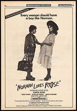 NORMAN LOVES ROSE__Original 1982 Trade print AD_poster__CAROL KANE__VIRGINIA HEY