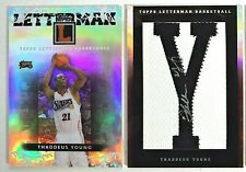 Thaddeus Young Philadelphia 76ers 2007-08 Topps Letterman Patch Auto Booklet 4/5