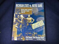 K1-54 MICHIGAN STATE VS NOTRE DAME FOOTBALL PROGRAM -SEP 17, 2005 - WITH TICKETS