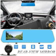 4.3'' 1080P Dual Lens Car Auto DVR Mirror Dash Cam Recorder + Rear View Camera