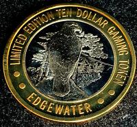 .999 $10.00 Silver Strike • Edgewater Hotel & Casino • Laughlin NV • Eagle