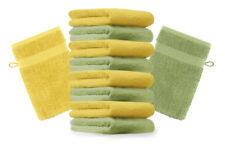 Betz lot de 10 gants de toilette Premium vert pomme & jaune, 16 x 21 cm