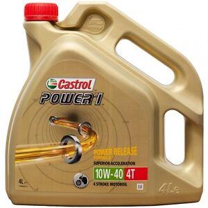 Aceite Castrol Power 1 4T 10W40 4L   Moto   4 litros   NUEVO   Envío 24h