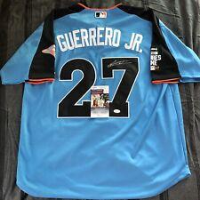 Vladimir Guerrero Jr Signed 2017 Futures Game Jersey Autographed Blue JSA COA