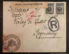 1918 Sofia Bulgaria Military Censored Cover To  Regensburg Germany