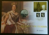 GB 2001 Queen Victoria PNC Cover £5 Coin Brilliant Uncirculated BU