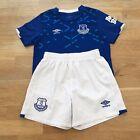 UMBRO Everton FC 2019-20 Football Kids Home Kit Size 4-5 Years, Blue / White