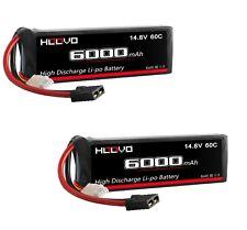 (2) 4S 6000mAh 14.8V 60C LiPo Battery (2) Traxxas X-Maxx 29.6v 8S TRX connectors