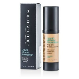 NEW Youngblood Liquid Mineral Foundation - Golden Tan 1oz Womens Make Up