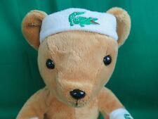 LACOSTE PARFUMS PLUSH & TERRY ALLIGATOR SWEAT WRIST HEAD BAND TEDDY BEAR