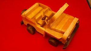 """Beautiful Vintage Car Model In Different Woods 6.5x 3.5"""" Inches Wide (Not A Toy)"""