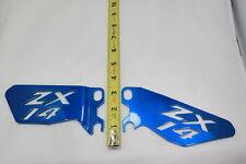 Kawasaki ZX14 ZX14R HEEL GUARDS BLUE  REG