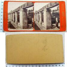 Stereophoto Ercolano Giardino della Csa di Argo -edizioni G. Brogi - fine '800