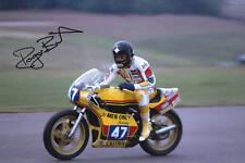 Hand Signed Roger Burnett Photo 8x12. (RARE).