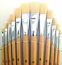 Chungking Flat Bristle Brushes 12pcs Size 2,4,6,8,10,12,14,16,18,20 ,22,24 Art141