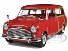 MORRIS MINI TRAVELLER RED 1/18 DIECAST CAR MODEL BY KYOSHO 08195