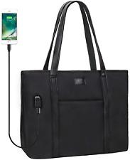 Work Bag For Women Laptop Briefcase USB Office Handbag Business Study Case Black