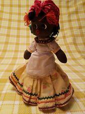 Vintage Cloth Black Girl Doll
