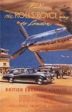 Vintage British Airways Travel Poster 11 X 17