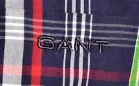 Men's GANT Georgica Poplin Cotton Checked Red Long Sleeve Casual Shirt Size S