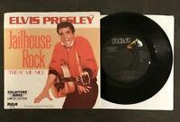 """7"""" Elvis Presley  - Jailhouse Rock - USA RCA w/ Pic 45"""