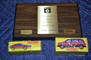 Matchbox 1983 Dodge Caravan + Daytona Turbo Z + Lee Iacocca Plague Promo Rare