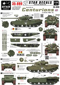 Star Decals 35-899, Decals for 8th K.R.I.H. Centurions in Korea. Centurion Mk 3