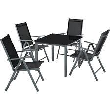 Alluminio set mobili da giardino 4+1 tavolo sedie pieghevole arredo esterno grig