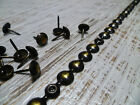 Upholstery Nails - Furniture Studs/Tacks/Pins - 9.5mm Worn Bronze - 1 Mt Strip