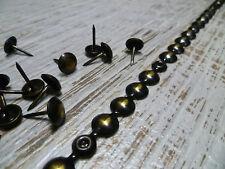 Upholstery Nails - Furniture Studs/Tacks/Pins - 9.5mm Worn Bronze - 1 Mt Strip