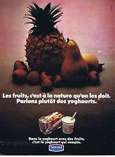 PUBLICITE ADVERTISING 114 1972 DANONE yoghourt aux fruits