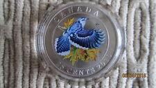 2010 25 Cent Coloured Blue Jay Coin