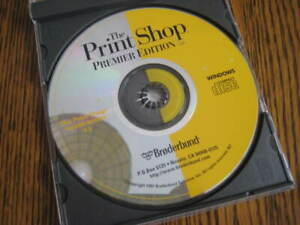 The Print Shop, Premier Edition Version 5.0  Various CD's and Clip Art CD