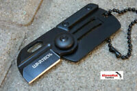 "NEW Wartech® 2.75"" Black Folding Card Pocket Knife Keychain Manual Open Mini EDC"