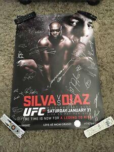 UFC 183 Anderson Silva vs. Nick Diaz Signed Poster SBC