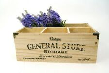 Storage Box Wooden Vintage Distressed finish GENERAL STORE Rustic Kitchen