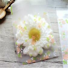 Packaging Bag Flower Print Plastic Bag Cookie Candy Gift Packaging Bags Self  W
