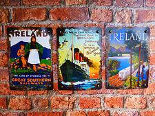Set of 3 IRELAND TRAVEL Irish Prints - Vintage reproductions - wall art posters