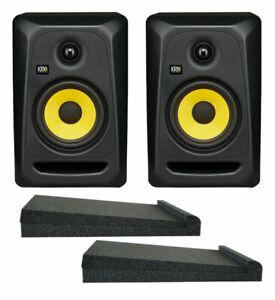 KRK Classic 5 G3 Studio Monitor 5 Inch Pair + Bonus Isolating Pads