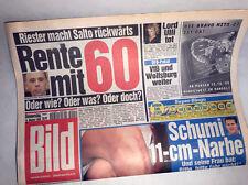 Bildzeitung vom 14.10.1999 Geschenk 18. 19. 20. Geburtstag * Rente mit 60