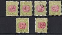 PDA36) Australia 1922-30 Third watermark perf 14 set ½d to 6d, all CTO