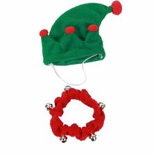 "Elf Hat Jingle Bell Collar for Dog Size Medium 8.75""-10.5"" New Christmas Holiday"
