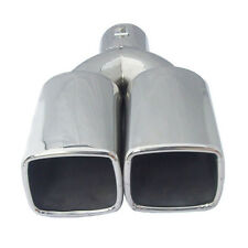"""Universal 2.5"""" Stainless Steel Inlet Car Tail Rear Pipe Tip Muffler Cover Superb"""