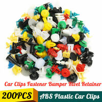 200X Plastic Car Door Trim Clip Bumper Rivet Screws Body Panel Push Fastener Kit