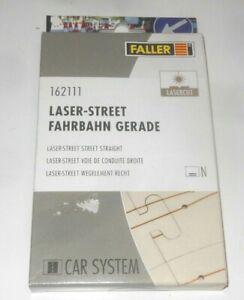 FALLER CAR SYSTEM - LASER STREET - FAHRBAHN GERADE  SET 162111 4 STÜCK 150 mm N